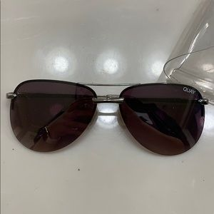 Silver quay sunglasses with a desi clear case
